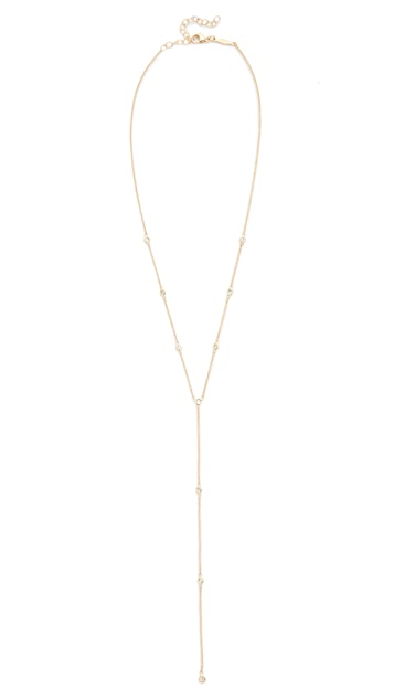 Jacquie Aiche 14k Gold 10 Diamond Y Necklace