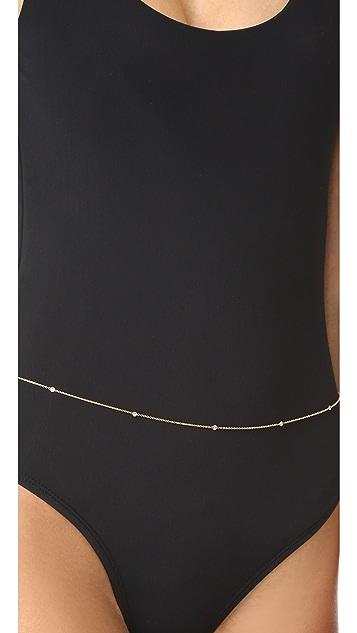Jacquie Aiche 14k Gold 10 Diamond Belly Chain