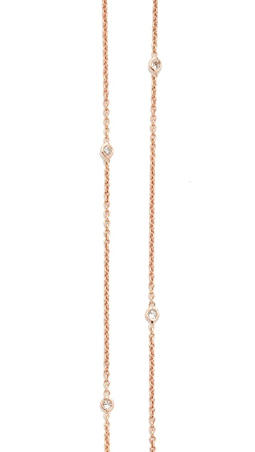 Jacquie Aiche 14k Rose Gold 10 Diamond Belly Chain