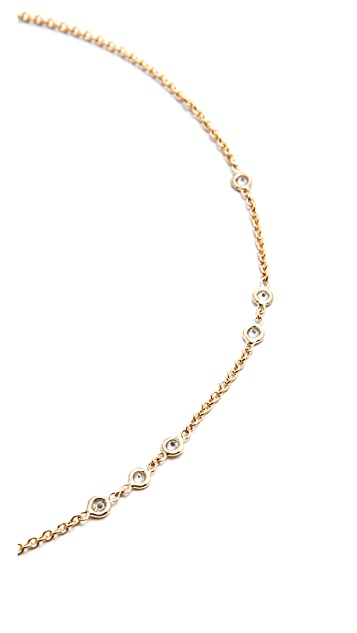 Jacquie Aiche 1x2x3 Diamond Choker Necklace