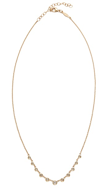 Jacquie Aiche 14k Gold 11 Diamond Emily Necklace
