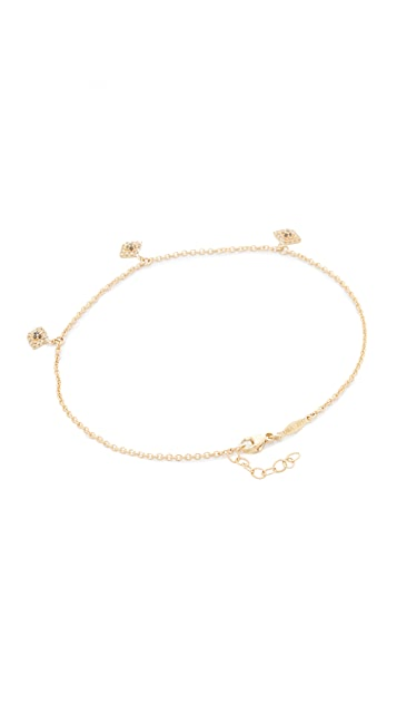 Jacquie Aiche 14k Gold Pave Eye Shaker Anklet