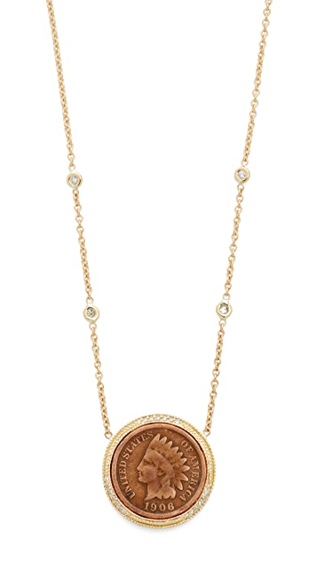 save choker in diamond metallic aiche necklace lyst jewelry jacquie