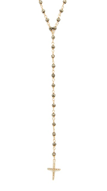 Jacquie Aiche Pave Cross Beaded Rosary