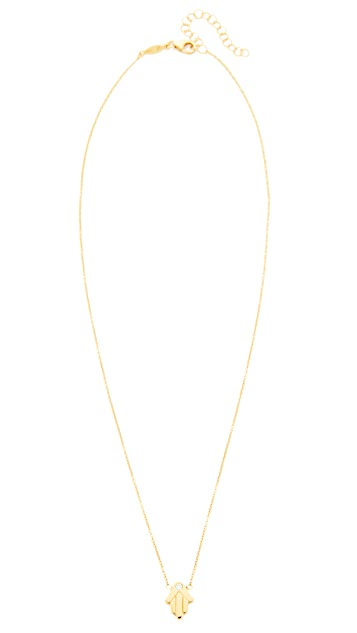Jacquie Aiche Hamsa Hand Necklace