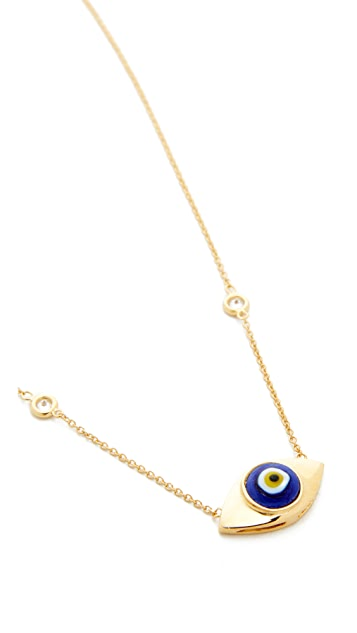 Jacquie Aiche Ceramic Eye Necklace
