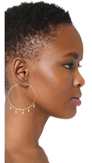Jacquie Aiche Shaker Hoop Earrings