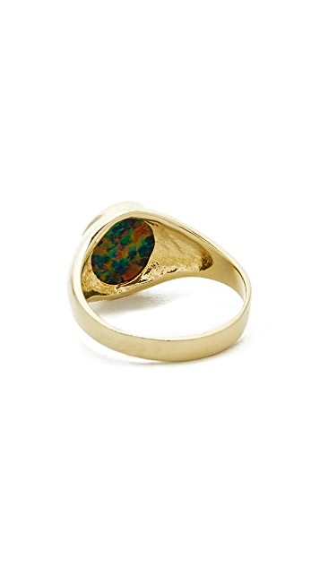 Jacquie Aiche Opal Signet Ring