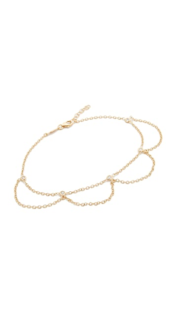 Jacquie Aiche Scalloped Anklet