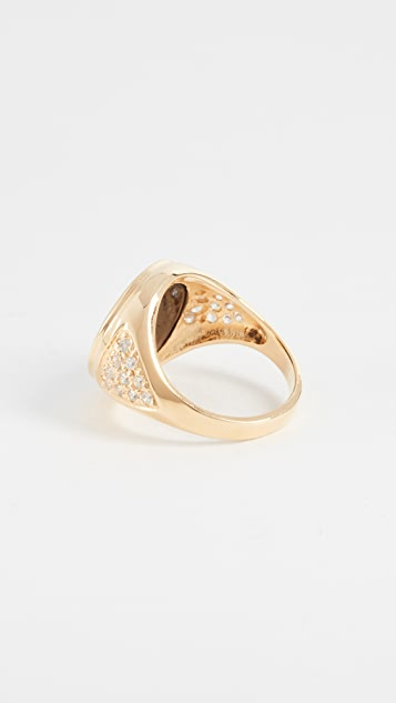 Jacquie Aiche JA Large Moon and Stars Ring
