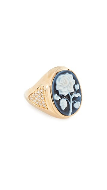 Jacquie Aiche Large Rose Cameo Ring