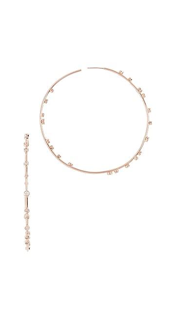 Jacquie Aiche 14K Gold Hoop Earrings