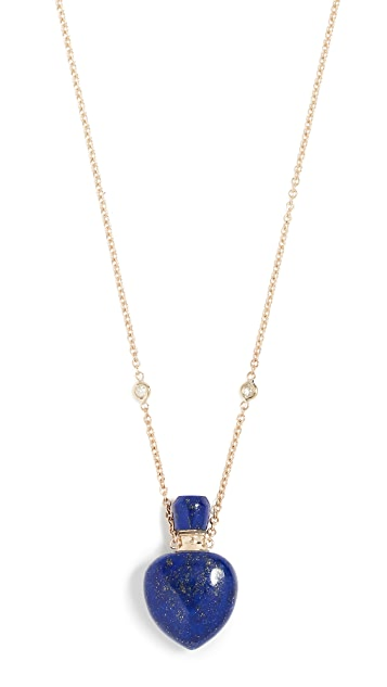 Jacquie Aiche 14K Small Lapis Potion Bottle Necklace