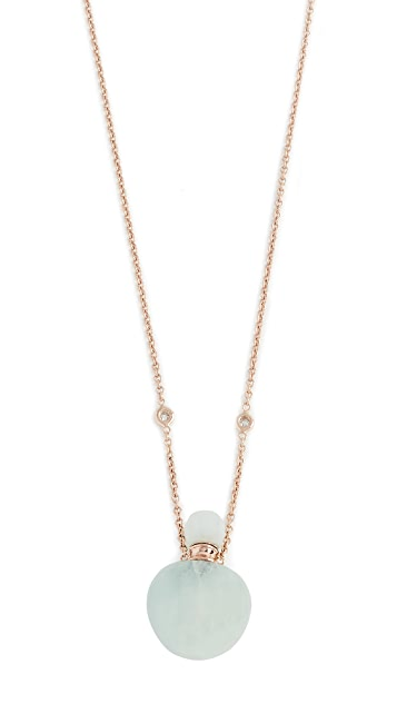 Jacquie Aiche 14k Gold Aquamarine Potion Bottle Necklace