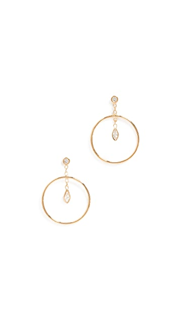 Jacquie Aiche Circle Hoop Earrings