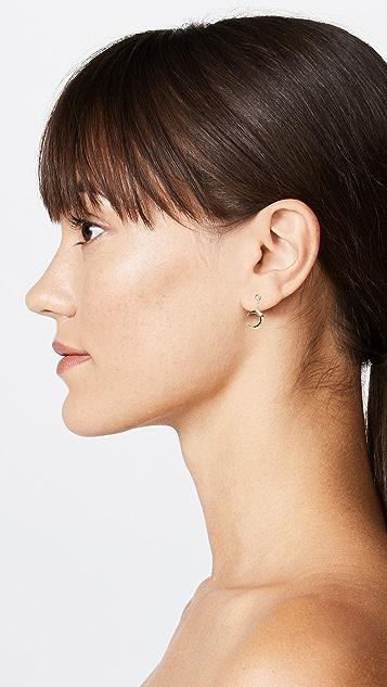 Jacquie Aiche Crescent Drop Earring