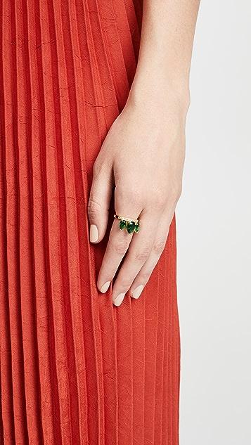 Pave Cz Petal Ring by Jacquie Aiche