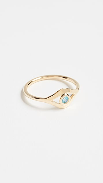 Jacquie Aiche CZ Eye Ring D0Dbh5xj8