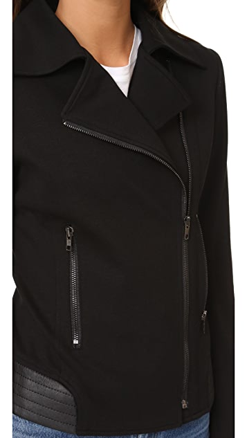 James Jeans Ponte Combo Motorcycle Jacket