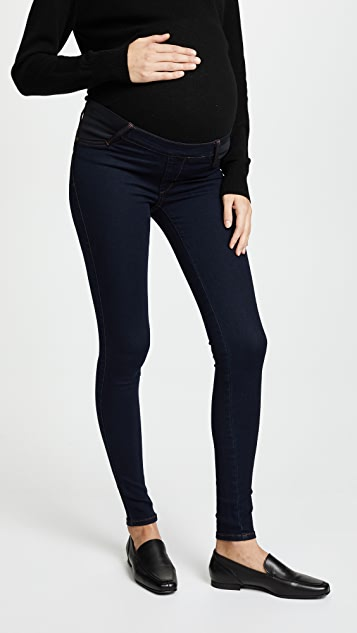 James Jeans Twiggy Maternity Under Belly Pull On Jeans - Blue Velvet