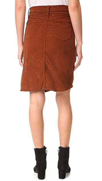 James Jeans Lana Baby Cord Front Slit Skirt