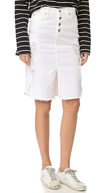 James Jeans Front Slit Lana Skirt