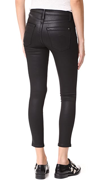 James Jeans Coated Twiggy Ankle Zip Leggings