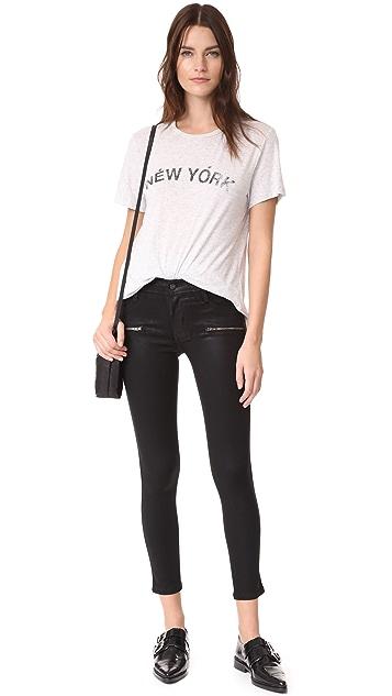 James Jeans Леггинсы Twiggy с покрытием с молниями на щиколотках