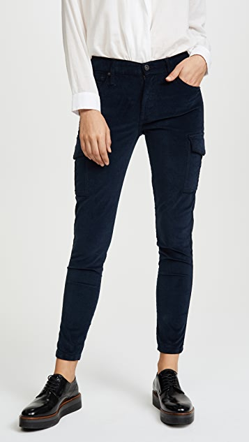 James Jeans Twiggy Velvet Ankle Cargo Pants