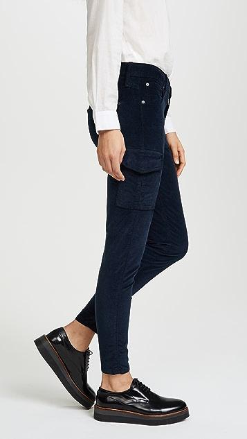 James Jeans Twiggy Velvet Ankle Cargo Pants