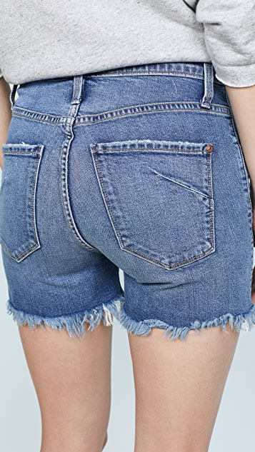 James Jeans Mimi High Rise Frayed Shorts