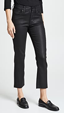 Calvin High Rise Coated Jeans
