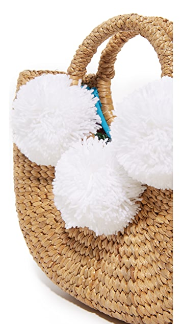 JADEtribe Basket Mini Pom Pom Bag