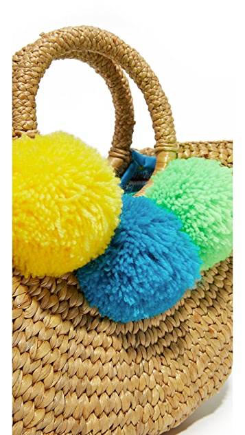 JADEtribe Basket Mini Pom Bag