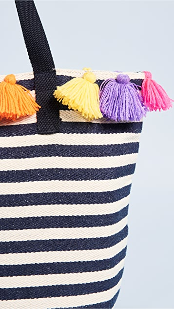 JADEtribe Valerie Small Bucket Mini Tassel Bag