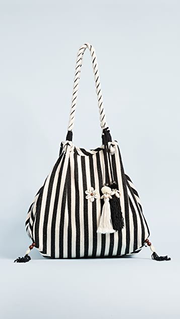 JADEtribe Valerie Rope Beach Hobo Bag