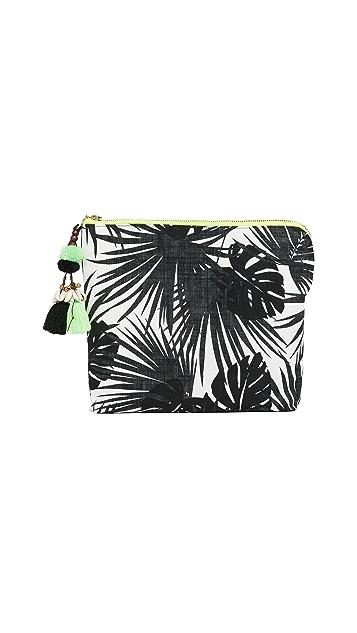 JADEtribe Aloha Neon Zip Clutch
