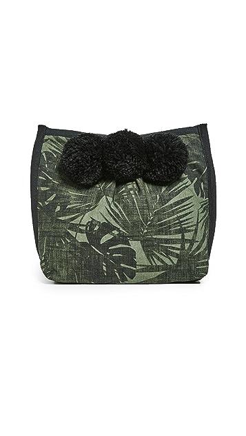 JADEtribe Aloha Makeup 3 Pom Clutch