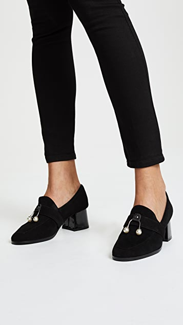 JAGGAR Intermix Block Heel Loafer Pumps