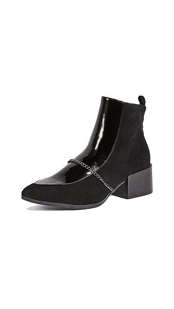JAGGAR Block Heel Suede Boots