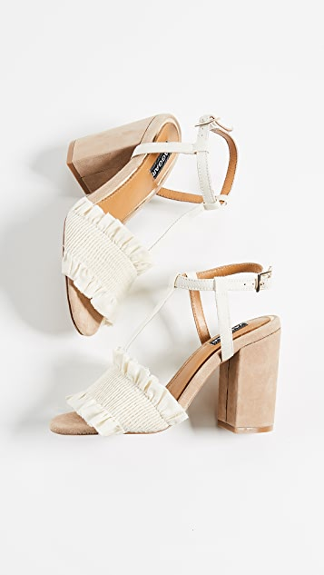 JAGGAR Step Up Block Heel Sandals