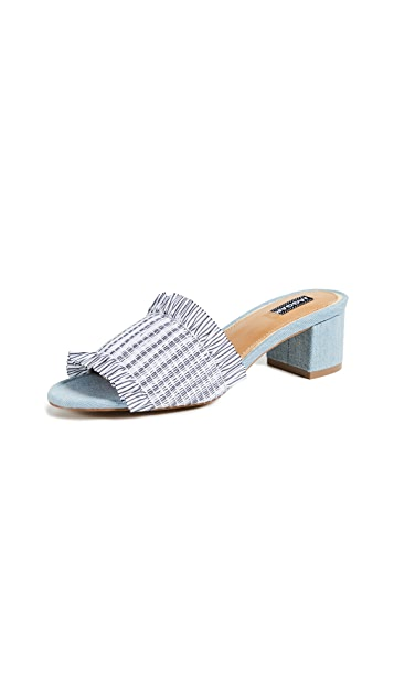 JAGGAR Stitched Block Heel Sandals