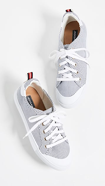 JAGGAR Lace Me Up Stripe Sneakers