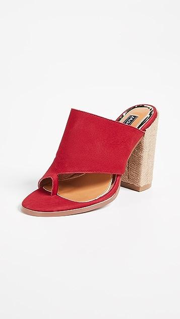 JAGGAR Juxtaposed Toe Ring Sandals