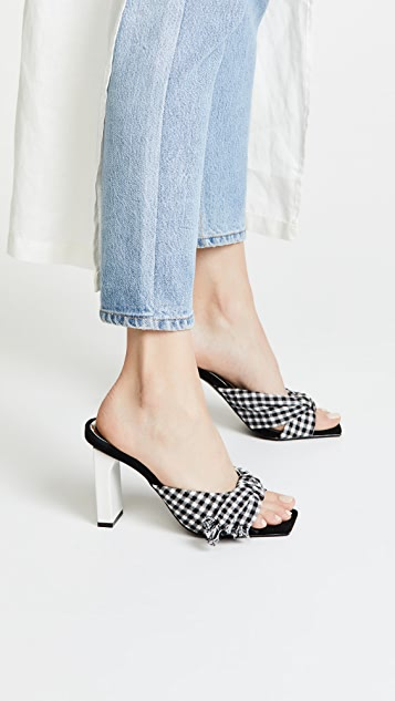 JAGGAR Knot Gingham Sandals
