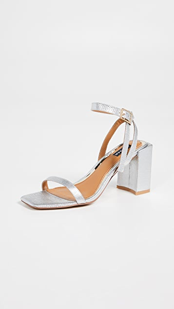 Jaggar Essential Lizard Heel Sandals