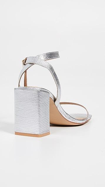 JAGGAR Essential Lizard Heel Sandals