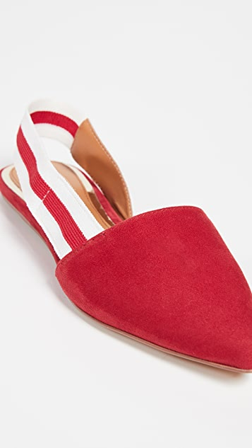 JAGGAR Action Suede Slingback Flats