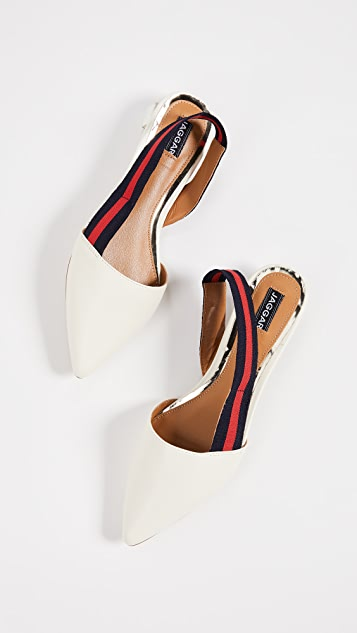 JAGGAR Action Leather Slingback Flats