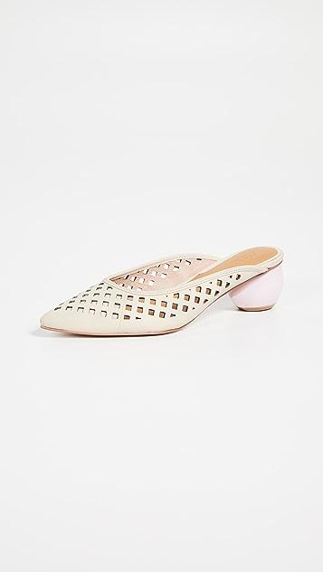 JAGGAR 笼式鞋跟穆勒鞋